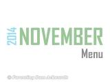 2014 | NovemberMenu