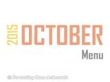 2015 | OctoberMenu