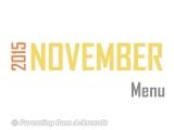 2015 | NovemberMenu