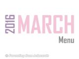 2016 | MarchMenu