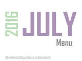 2016 | JulyMenu