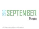 2016 | SeptemberMenu