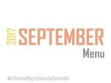 2017 | SeptemberMenu